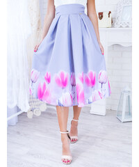 3d1cf3aa9f58 www.glashgirl.sk Šedá midi elegantná sukňa s tulipánmi