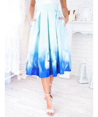 f8b416b87131 www.glashgirl.sk Mintová midi elegantná sukňa s tulipánmi