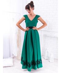 207c291ddd3e www.glashgirl.sk Zelené spoločenské šaty s krajkou