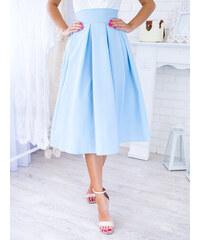 f1e613cd5417 www.glashgirl.sk Svetlomodrá midi elegantná sukňa