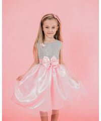 bf18d87448ae www.glashgirl.sk Ružové detské elegantné šaty s mašľou