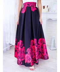 517b6464d7f0 www.glashgirl.sk Čierna dlhá elegantná sukňa s červenými kvetmi
