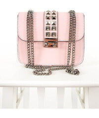 a385dd36c9 www.glashgirl.sk Ružová kožená kabelka so strieborným vybíjaním