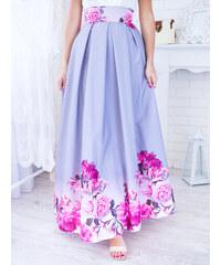 7c88c278ddc2 www.glashgirl.sk Sivá dlhá elegantná sukňa s ružovými kvetmi
