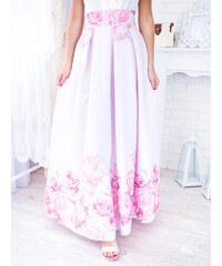 7d5d80fd7867 www.glashgirl.sk Ružová dlhá elegantná sukňa s ružovými kvetmi