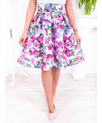 853b8d9a874e www.glashgirl.sk Farebná krátka elegantná sukňa s kvetmi