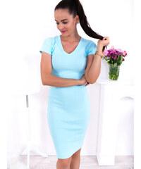 bb0c6d2ab160 www.glashgirl.sk Modré šaty s krátkym rukávom Sofia - Glami.sk