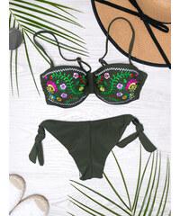 f4c8ca3dc6 www.glashgirl.sk Olivové plavky s výšivkou