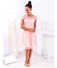 78da888ec0c7 www.glashgirl.sk Marhuľové krátke spoločenské šaty s krátkym rukávom