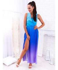 f4982ab4b1 www.glashgirl.sk Fialovo-modré dlhé šaty s odhaleným chrbátom