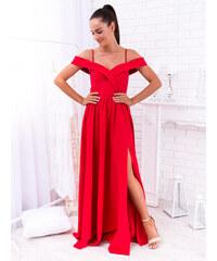 038d7b94f3b7 www.glashgirl.sk Červené dlhé spoločenské šaty s odhalenými ramenami  Elisabeth