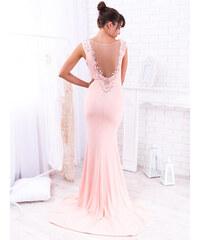 da68e8583947 www.glashgirl.sk Ružové dlhé spoločenské šaty so zdobením na chrbte