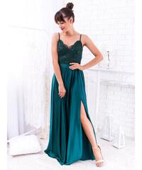 a70847f00a55 www.glashgirl.sk Zelené dlhé spoločenské šaty Bella