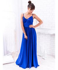 cf97ef6382f1 www.glashgirl.sk Modré dlhé spoločenské šaty Bella