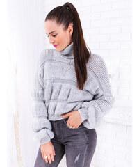 14750d10707e www.glashgirl.sk Sivý krátky pletený sveter Laia