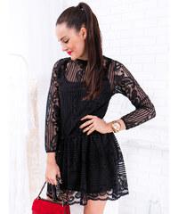 12985e86765c www.glashgirl.sk Čierne čipkované šaty so spodničkou