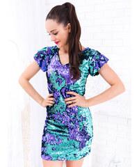 bf825f84f4c0 www.glashgirl.sk Modro-fialové šaty s flitrami s krátkym rukávom