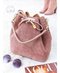 16bed1af54 www.glashgirl.sk Ružová kožená kabelka Lea