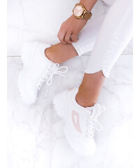 58fdb420c64f www.glashgirl.sk Biele tenisky s vyvýšenou podrážkou s ružovým detailom