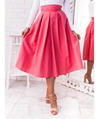 b7a1eb0cc36a www.glashgirl.sk Sýto ružová midi elegantná sukňa