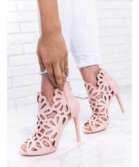 45724acb3446 www.glashgirl.sk Ružové sandále s vykrojenými vzormi Kelly