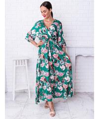 1c2f6b6b4d30 www.glashgirl.sk Zelené dlhé kvetované šaty Chantall