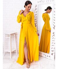 a24016946c6c www.glashgirl.sk Žlté dlhé spoločenské šaty Selena