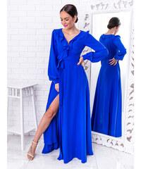 3f900d417b68 www.glashgirl.sk Modré dlhé spoločenské šaty Selena