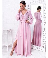 427e324acbb4 www.glashgirl.sk Ružové dlhé spoločenské šaty Selena