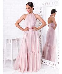 345c25295405 www.glashgirl.sk Bledoružové dlhé spoločenské šaty Karina