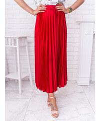 6c6f7db2fd52 www.glashgirl.sk Červená dlhá saténová plisovaná sukňa