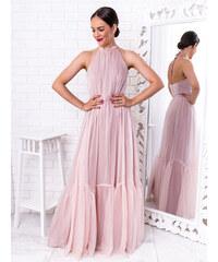 8f0090556b9f www.glashgirl.sk Púdrovo-ružové dlhé spoločenské šaty Karina