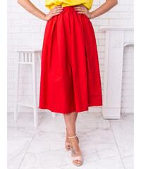 a2e1d806fb8c www.glashgirl.sk Červená midi sukňa s gumičkou