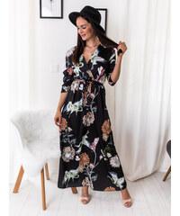 7c4f1887fc56 www.glashgirl.sk Čierne dlhé šaty so vzormi Sherry