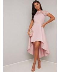 6f83b5c6cb8f Chi Chi London Chi Chi Allanna Ružové šaty s predlženou zadnou časťou