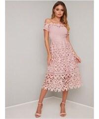 019b9dcd14f0 Chi Chi London Chi Chi Lizia Krajkové šaty s Bardot topom