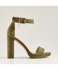 86358ca01f5f Mohito - Sandále na vysokom podpätku - Khaki