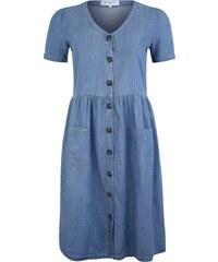 394517f5da81 ONLY Carmakoma Letní šaty modrá džínovina