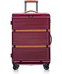 3d40724ced Cestovný kufor stredný na kolieskach 76 litrov Puccini bordový PC023B 3B