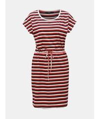 e887e3746d40 Bílo-červené pruhované šaty s kapsami VERO MODA April