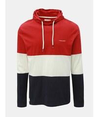 63da2c248860 Modro–červené pánske tričko s kapucňou Ragwear Folmer Organic