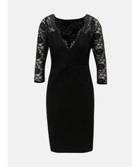 3e5046b21dd3 Čierne puzdrové šaty s čipkovanými detailmi Dorothy Perkins