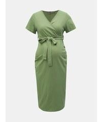 dcb800439fd5 Zelené těhotenské pouzdrové šaty Dorothy Perkins Maternity