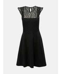 5f9bef2953e5 Čierne šaty s čipkou a leopardím vzorom Dorothy Perkins