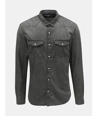1421466b8127 Šedá pánská džínová košile Tom Tailor Denim