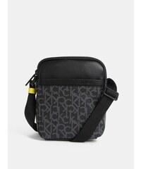 6a6f082261 Čierna pánska vzorovaná crossbody taška Calvin Klein Jeans