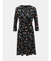 062d68ae9163 Čierne kvetované šaty s prekladaným výstrihom Dorothy Perkins