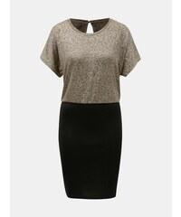 b9bbaea0ec9d Puzdrové šaty v čiernej a zlatej farbe ONLY Plearl