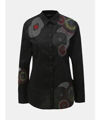 44d894a3b4af Čierna košeľa s výšivkou Desigual Sintra