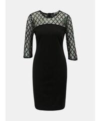 3dfb3f9987 Čierne puzdrové šaty s flitrami Dorothy Perkins Petite